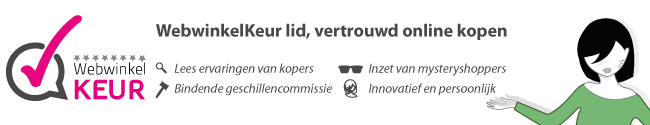 Lees op WebwinkelKeur wat klanten over ons vertellen!